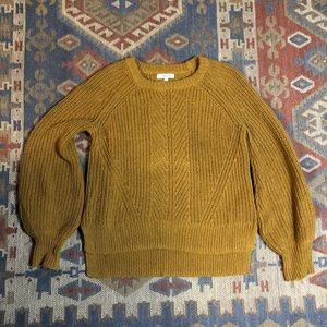 Madewell mustard yellow knit cotton sweater
